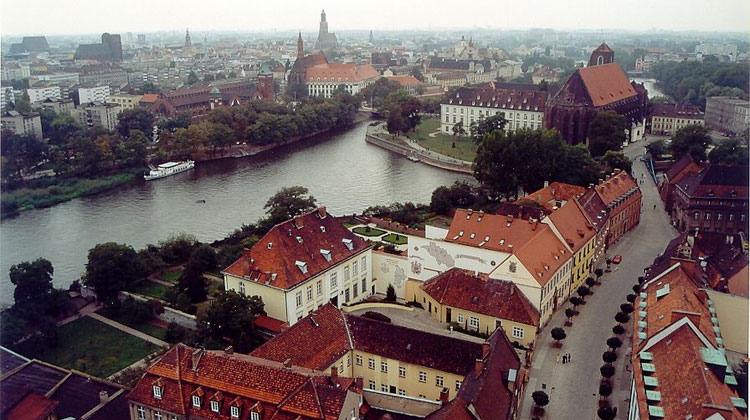 Le panorama de Wroclaw